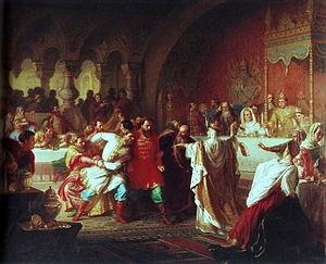 На свадьбе Василия Темного Карл Гун