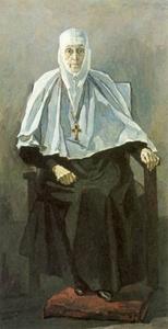 Схиигуменья Фамарь (Марджанова) Портрет П. Корина