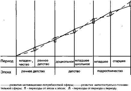 Линии психического развития по Д.Б. Эльконину