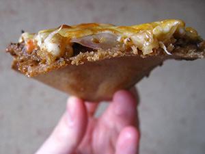 Пицца с грибами ржанная